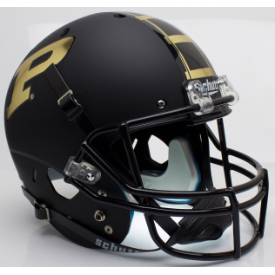 Purdue Boilermakers Matte Black Schutt XP Authentic Full Size Football Helmet