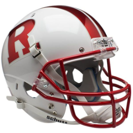 Rutgers Scarlet Knights Chrome R Schutt XP Replica Full Size Football Helmet