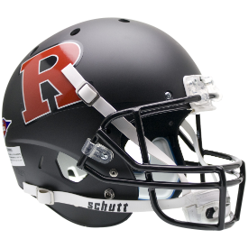 Rutgers Scarlet Knights Matte Black Red R Schutt XP Authentic Full Size Football Helmet