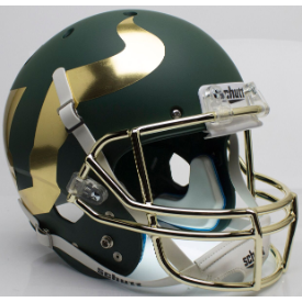 South Florida Bulls Chrome Mask Schutt XP Authentic Full Size Football Helmet