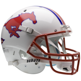 SMU Mustangs Schutt XP Authentic Full Size Football Helmet