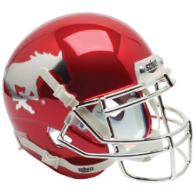 SMU Mustangs Chrome Schutt XP Authentic Full Size Football Helmet
