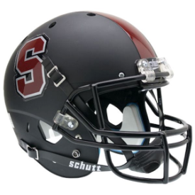 Stanford Cardinal Matte Black Schutt XP Replica Full Size Football Helmet