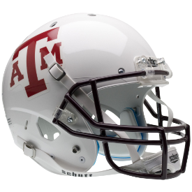 Texas A&M Aggies White w/Maroon Mask Schutt XP Authentic Full Size Football Helmet
