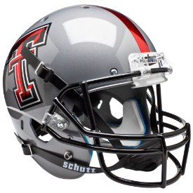 Texas Tech Red Raiders Gray Schutt XP Replica Full Size Football Helmet