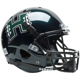 Hawaii Warriors Schutt XP Replica Full Size Football Helmet