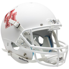 Houston Cougars Matte White Schutt XP Replica Full Size Football Helmet