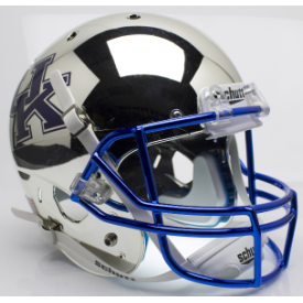 Kentucky Wildcats Chrome Silver Schutt XP Replica Full Size Football Helmet