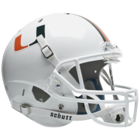 Miami Hurricanes Schutt XP Replica Full Size Football Helmet