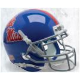 Mississippi (Ole Miss) Rebels Powder Blue Schutt XP Replica Full Size Football Helmet