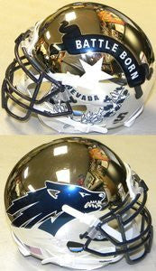 Nevada Wolfpack Chrome Schutt XP Replica Full Size Football Helmet