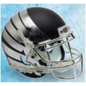 Oregon Ducks Black Eclipse Schutt XP Authentic Full Size Football Helmet