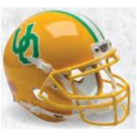 Oregon Ducks Yellow Throwback Schutt XP Authentic Full Size Football Helmet