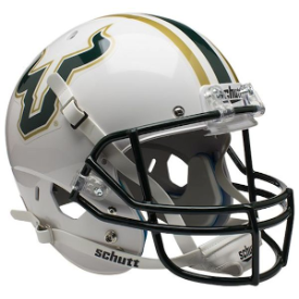South Florida Bulls White Schutt XP Replica Full Size Football Helmet