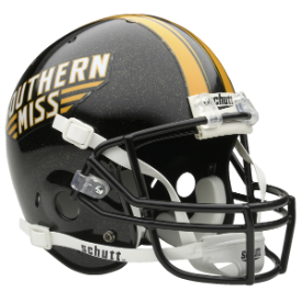 Southern Miss Golden Eagles Schutt XP Authentic Full Size Football Helmet