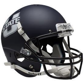 Utah State Aggies Matte Navy Schutt XP Replica Full Size Football Helmet
