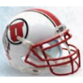 Utah Utes White w/Stripe Schutt XP Replica Full Size Football Helmet