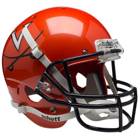 Virginia Cavaliers Orange Schutt XP Replica Full Size Football Helmet