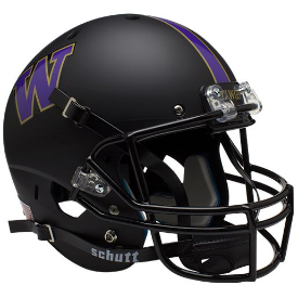 Washington Huskies Matte Black Schutt XP Replica Full Size Football Helmet