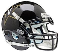 Vanderbilt Commodores Black Schutt XP Replica Full Size Football Helmet