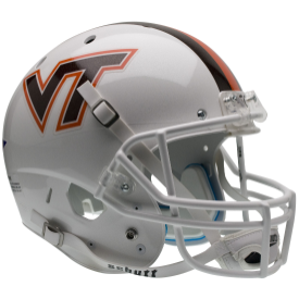 Virginia Tech Hokies White w/Stripes Schutt XP Replica Full Size Football Helmet