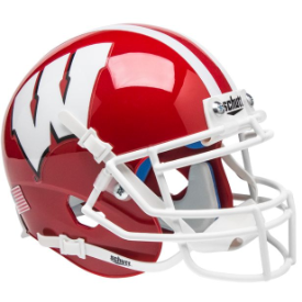 Wisconsin Badgers Red w/White Mask Schutt XP Replica Full Size Football Helmet