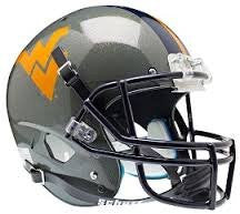 West Virginia Mountaineers Gray Schutt XP Replica Full Size Football Helmet