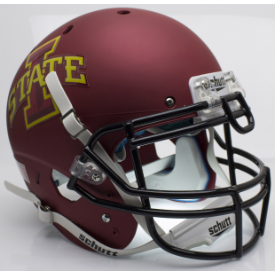 Iowa State Cyclones Matte Maroon Schutt XP Authentic Full Size Football Helmet