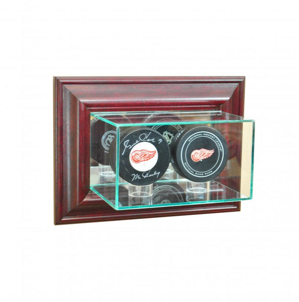 Wall Mounted Double Puck Display Case