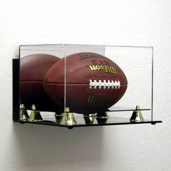 Deluxe Acrylic Football display case -wall mountable