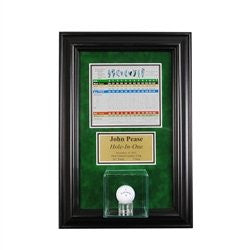 Wall Mounted Golf Display Case with Scorecard and Engraving