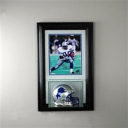 Wall Mounted Mini Helmet Display Case with 8 x 10