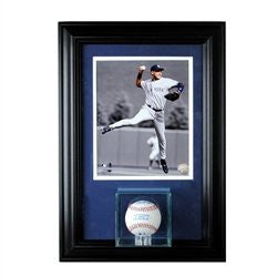 Wall Mounted Baseball Display Case with 8 x 10