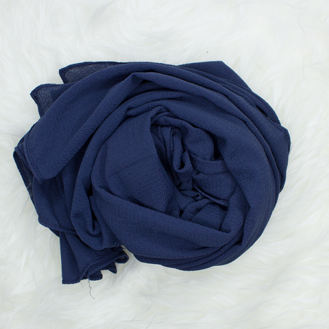 Scarf & Me Georgette Jersey Collection Oxford Blue