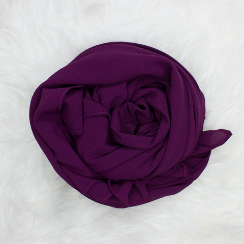 Scarf & Me Georgette Jersey Collection Boysenberry