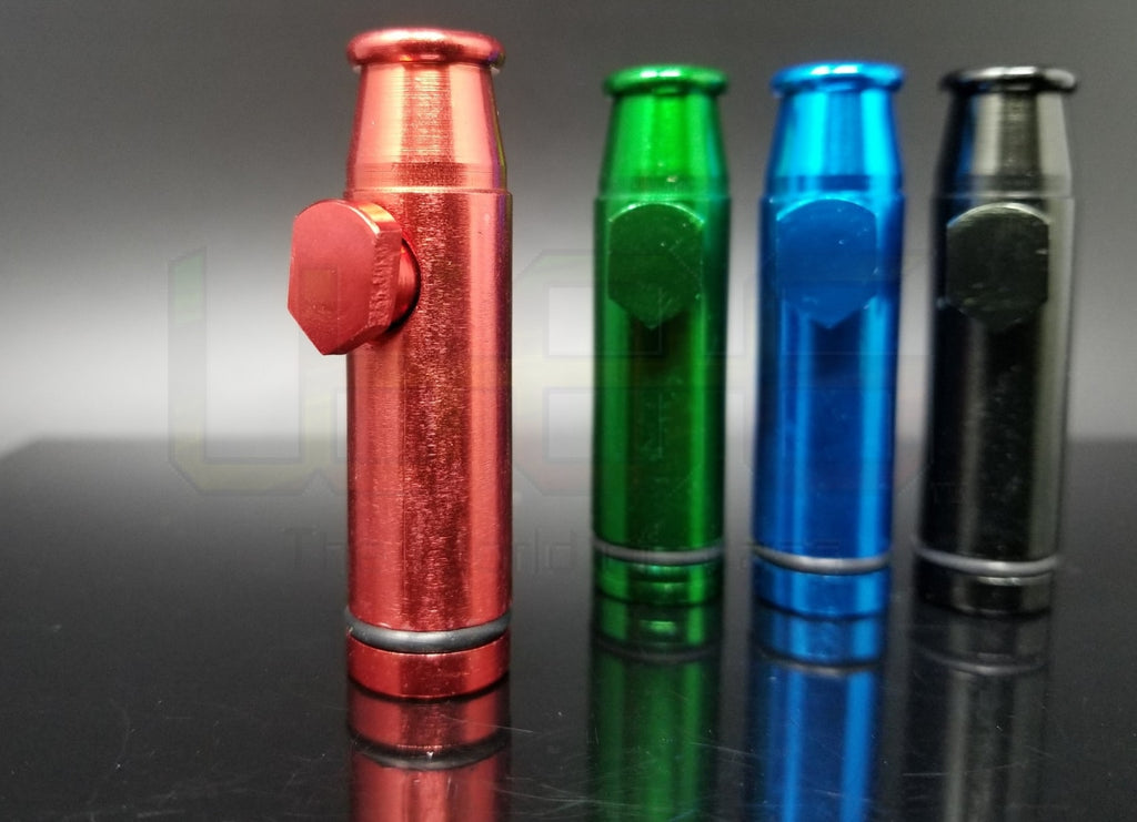 2 Metal Snuff Bullet Novelty