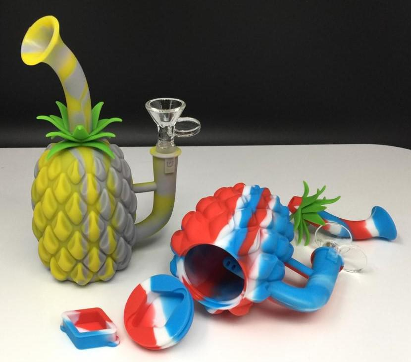 7 Silicone Pineapple Water Pipe