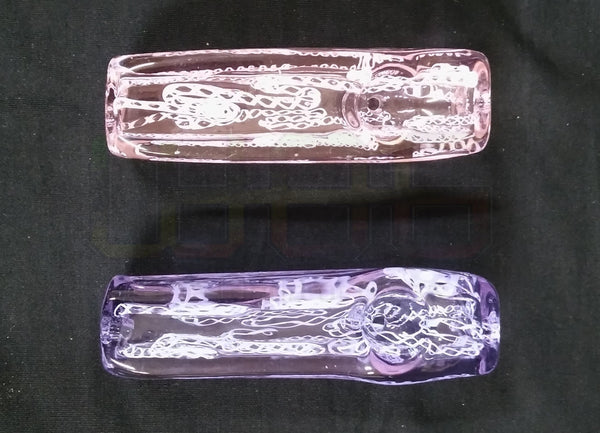 3 Ice Cube Pink And Purple Hand Pipe