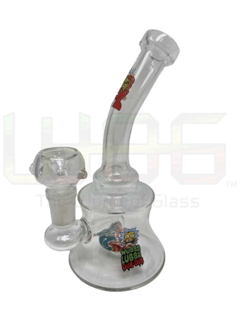 6 Rm Hourglass Bent Neck Water Pipe