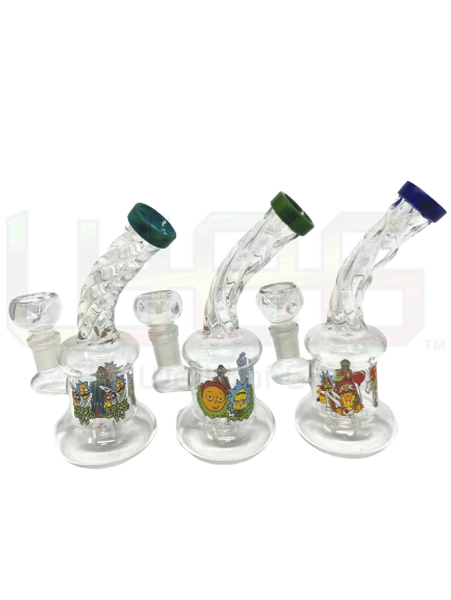 6 Rm Twisted Neck Cone Water Pipe
