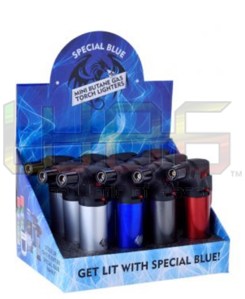 4.5 Special Blue Single Flame Metal Bernie Torch Lighter Butane