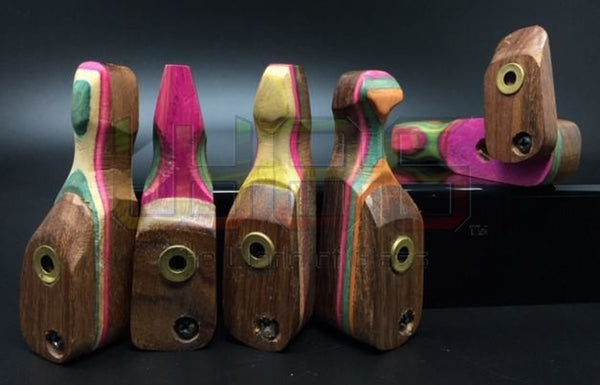 "3.5"" Multi-Color Twist Lid Wood Hand Pipe"