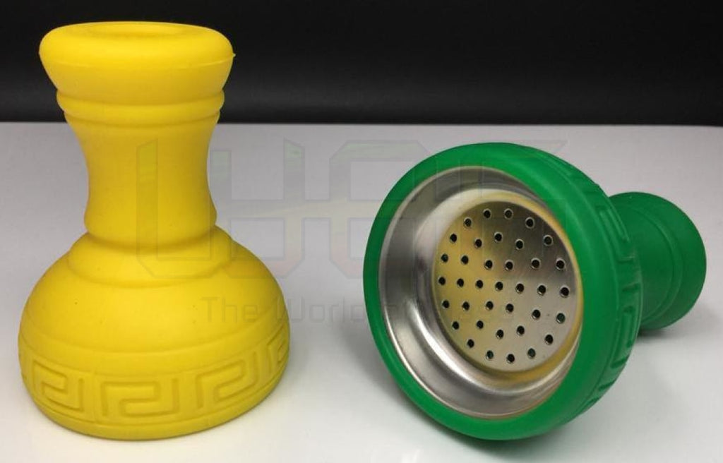 4 Silicone Hookah Bowl With Metal Screen