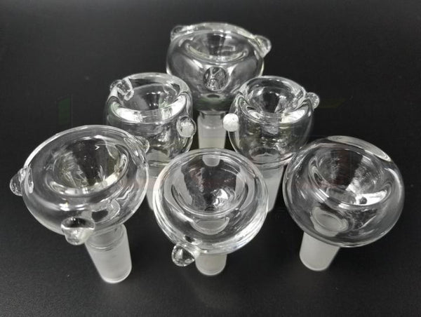 2 Dry Bowls 14Mm(M) & 14Mm(F) Clear 14Mm (M) Water Pipe Accessory