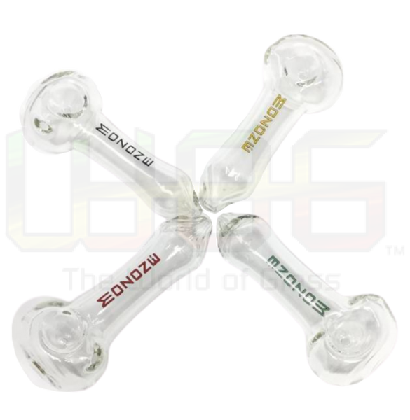 5 Mozone Clear Thick Glass Top Quality Hand Pipe