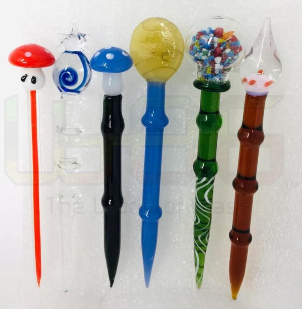 "5"" Assorted Design/Style Glass Dabbers"