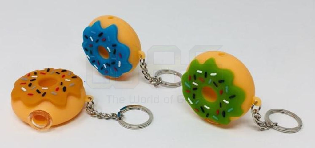 "2"" Silicone Donut Chain Hand Pipe"