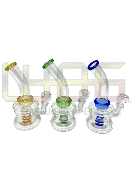 7 Gradual Bent Ring Neck Water Pipe