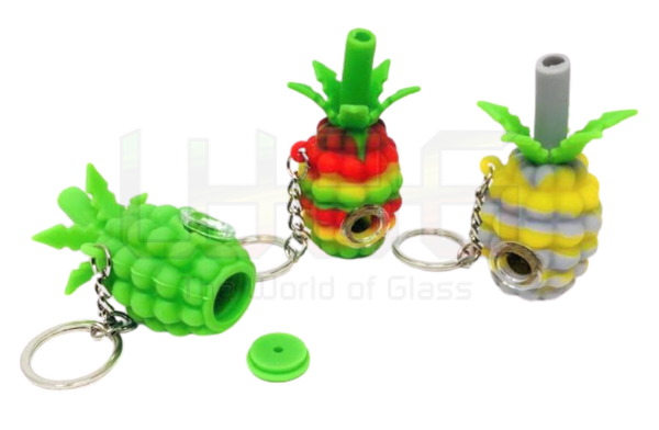 "3"" Silicone Pineapple Chain Hand Pipe"