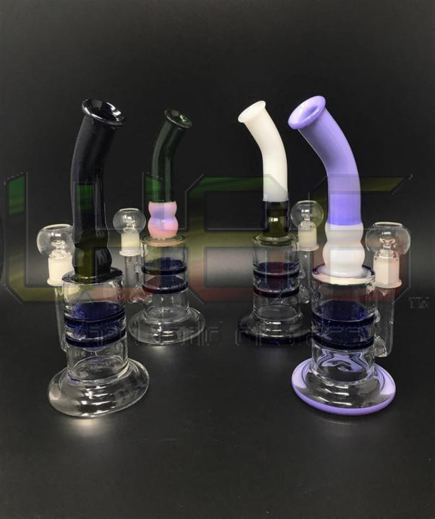 9 Two-Toned Bent Neck Double Perc Rig